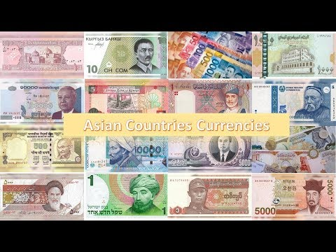 What are the names of asian currency