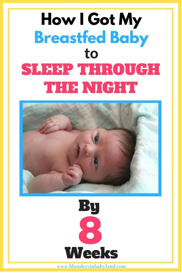 Breast feeding and sleeping through the night