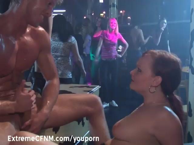 Men jacking off in front of women