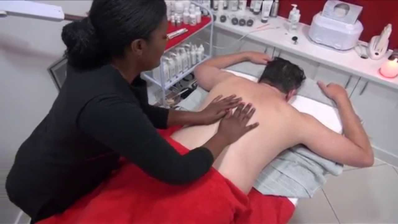 Body to body massage with happy ending