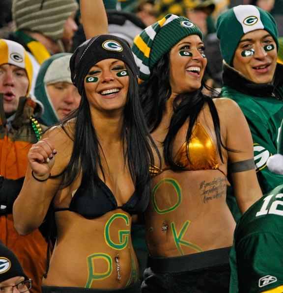 Bikini women at green bay packers game