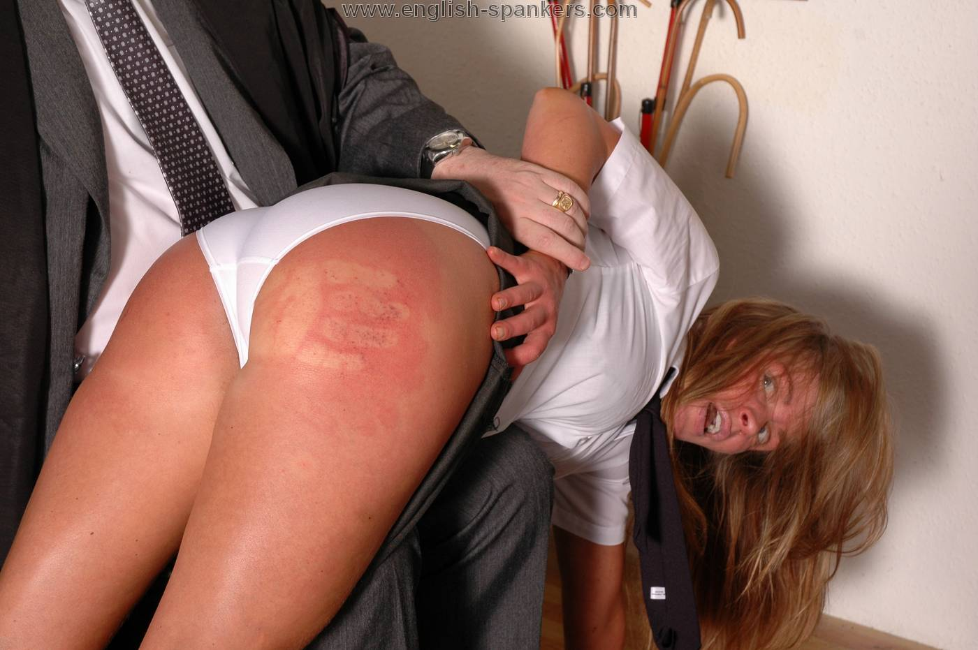 Bare bottom get spanked their who woman