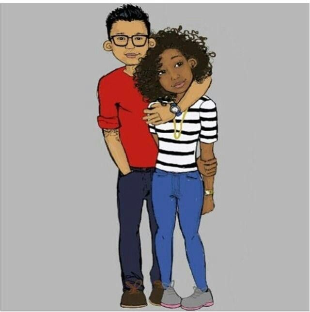 Cartoon pictures of black couples in love