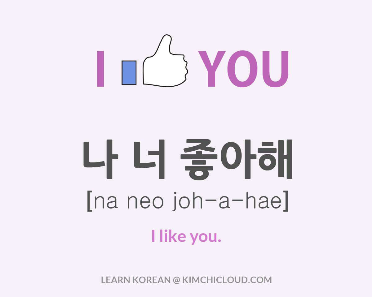 How do i say it in korean