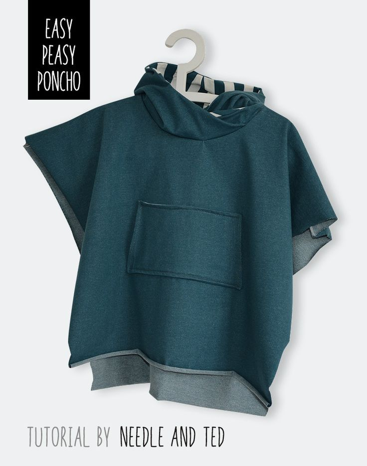 Pattern for adult key collar fleece poncho