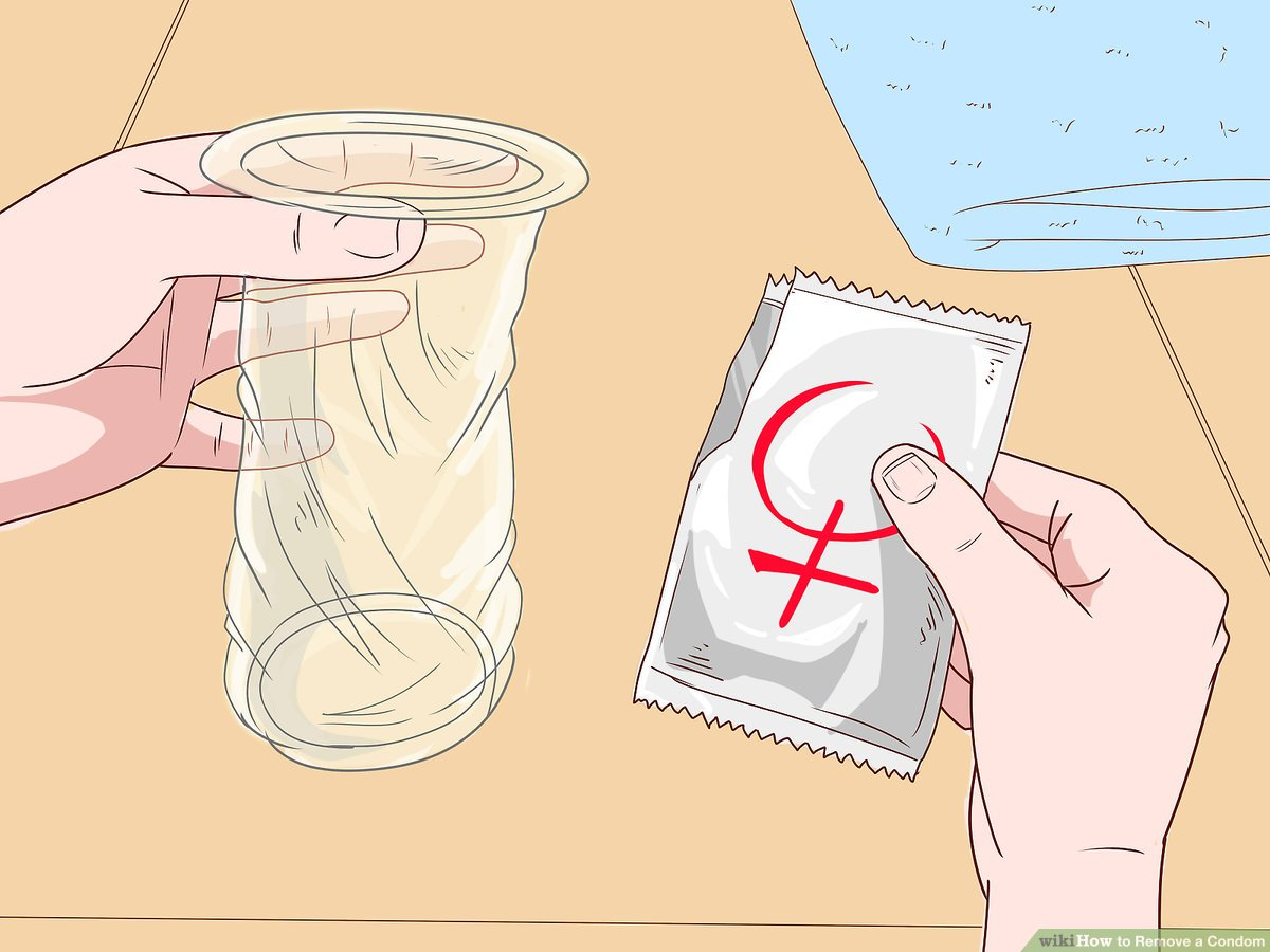 How to put on a condom using