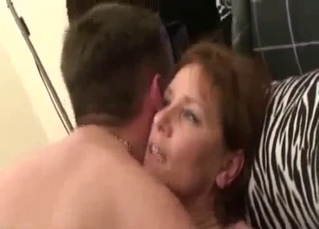 Son shows mom his hard on porn
