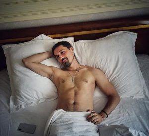 Bondage sex in wooden room anal swinger