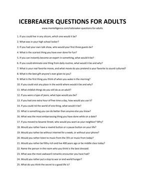 Fun question and answer games for adults