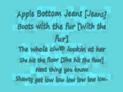 Apple bottom jeans low low low lyrics