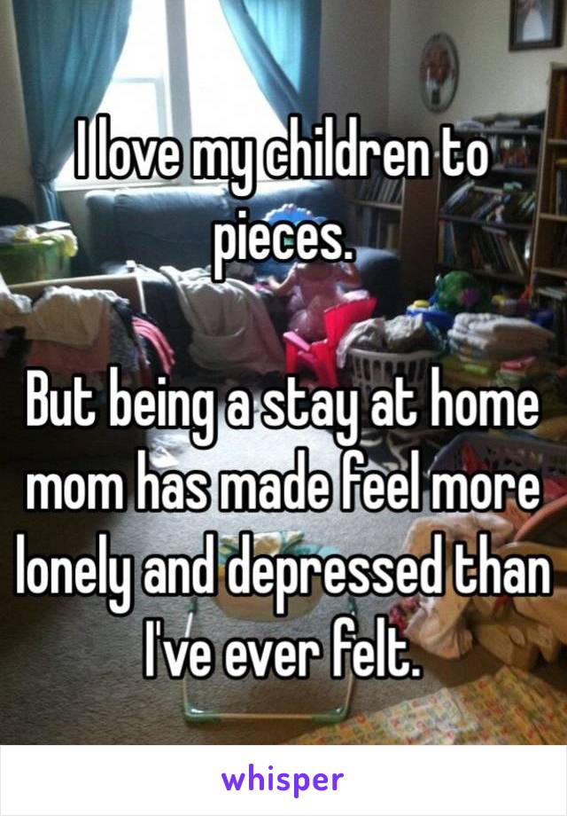 Lonely stay at home mom no friends