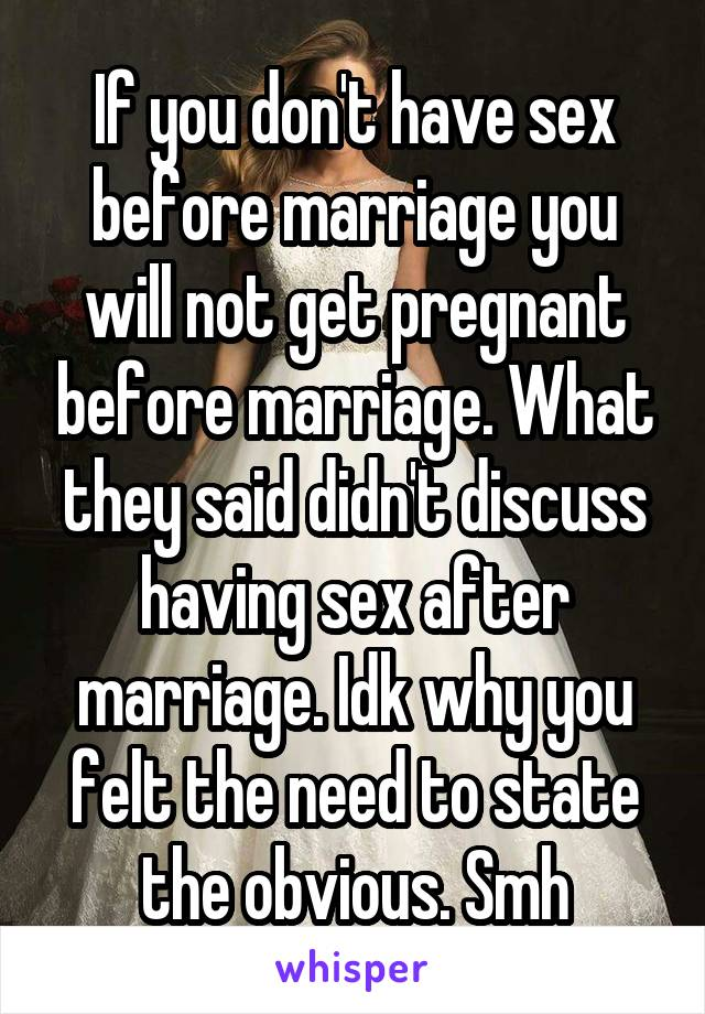 Why not to have sex before marriage