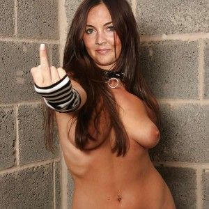 Big boobs naked in the rubbing them