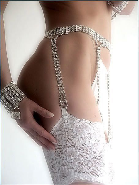 Pics of nude brides in garters belts