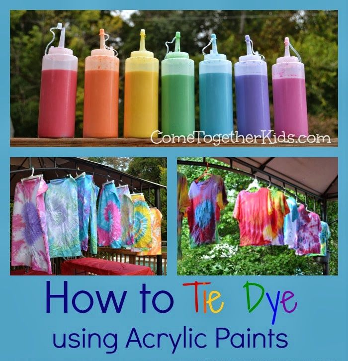 How to tie dye with squirt bottles