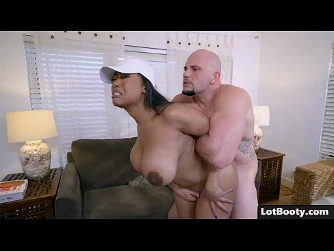 Black girl with big boobs gets fucked