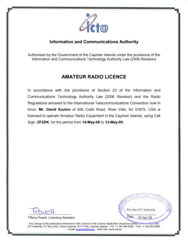 How to renew my amateur radio license