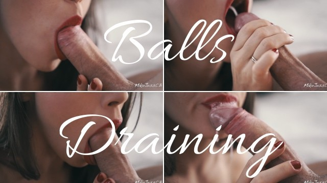 Lick my balls with lots of saliva