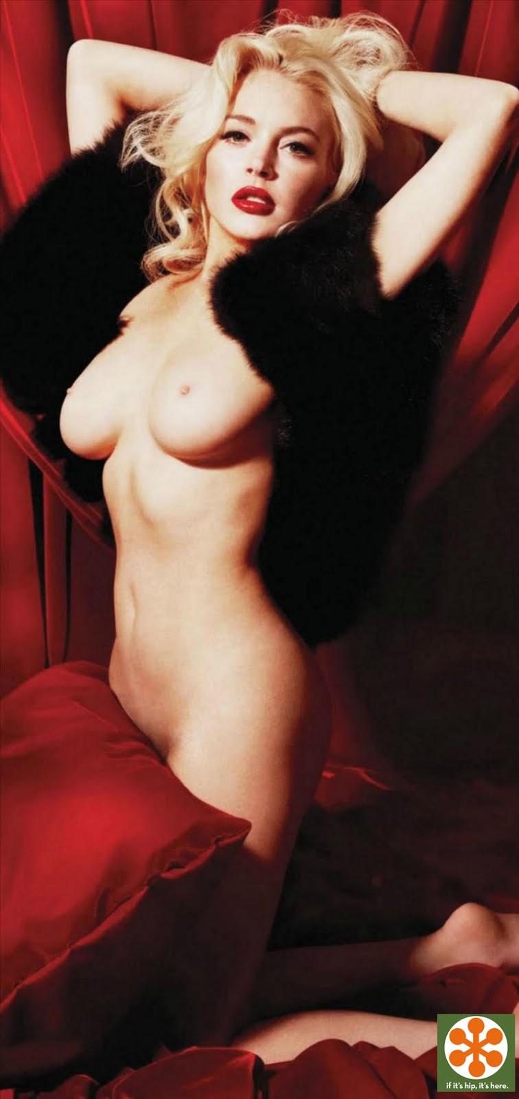 Lindsey lohan poses nude as maralin monroe