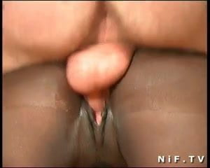 She begs for mercy during anal threesome
